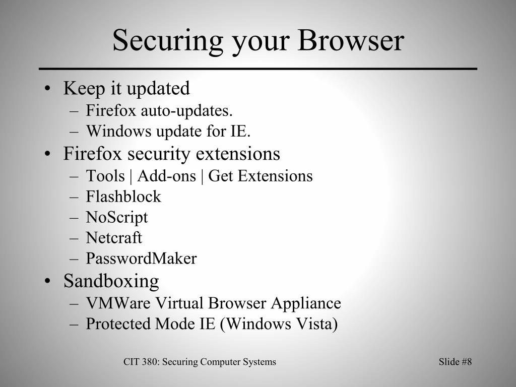 Securing your Browser