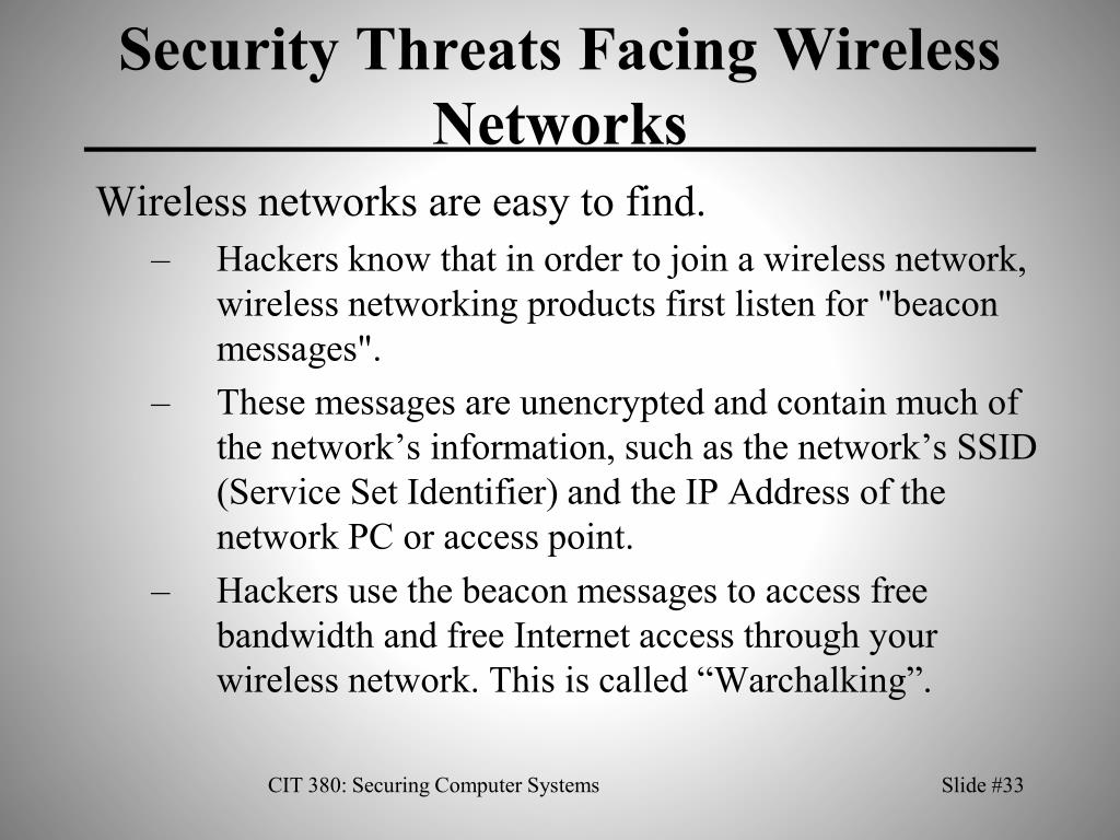 Security Threats Facing Wireless Networks