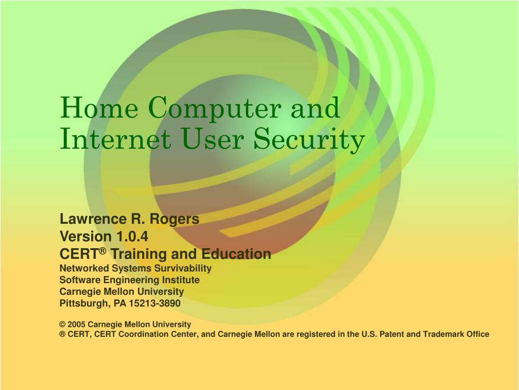 home computer and internet user security
