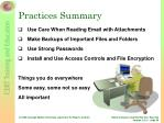 practices summary