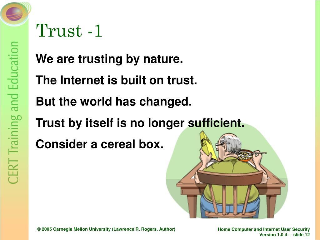 Trust -1