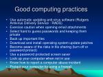good computing practices16