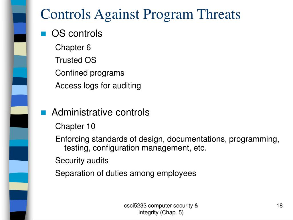 Controls Against Program Threats