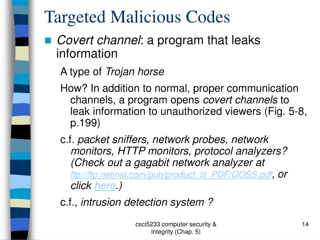 Targeted Malicious Codes