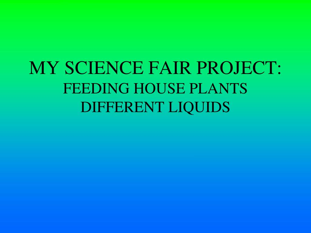 my science fair project What are some catchy titles for a science fair  what is a serious but somewhat catchy title for my science fair project about how people are inclined to like.