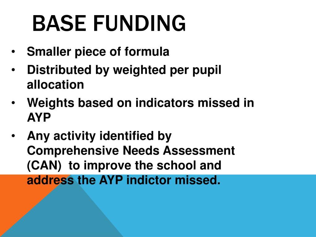 Base funding