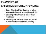 examples of effective strategy funding6