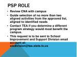 psp role