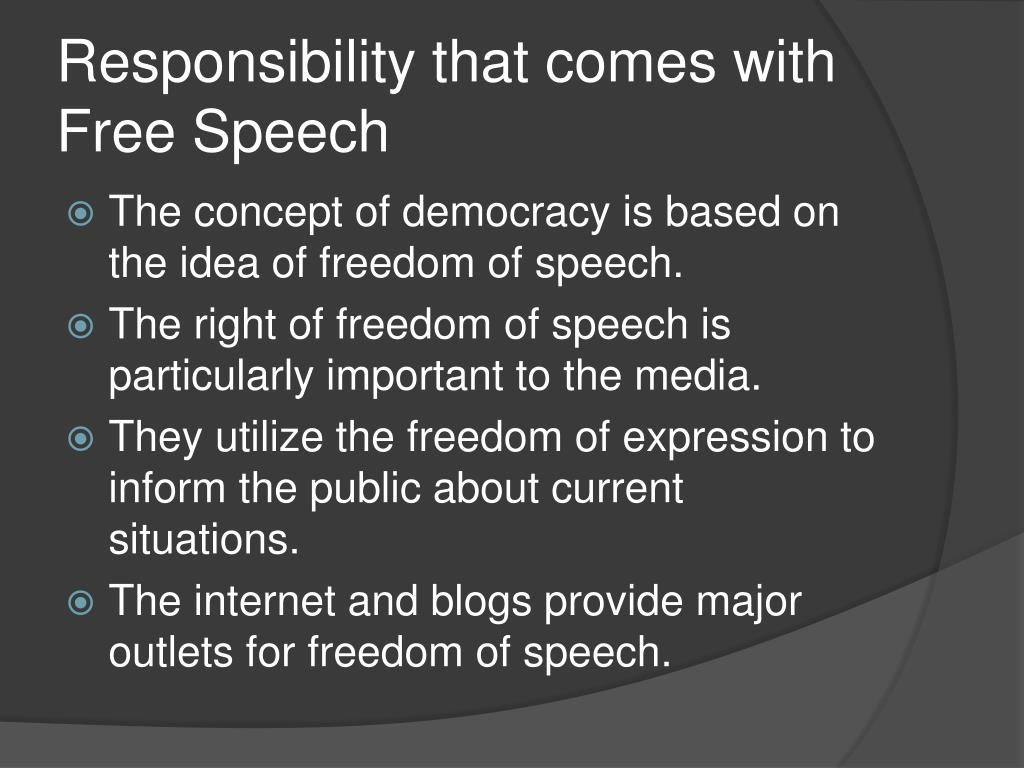 PPT - Freedom of Speech and Social Responsibility ...