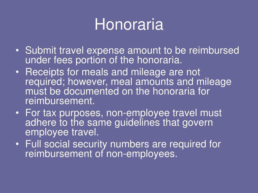 Honoraria
