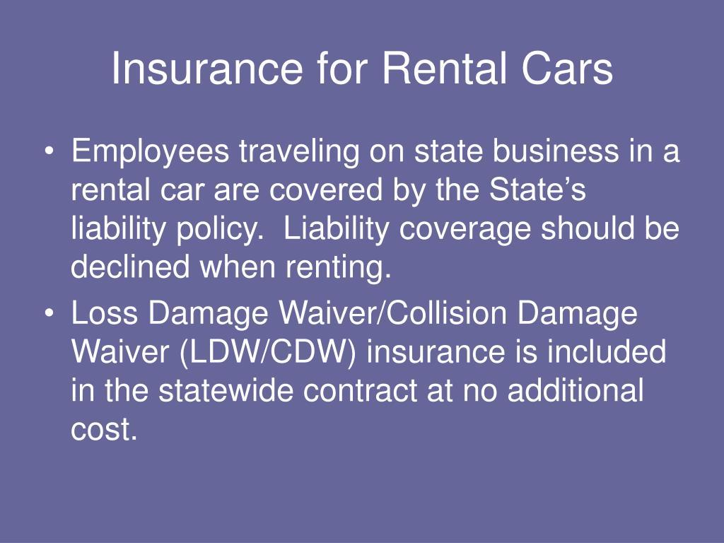 Insurance for Rental Cars