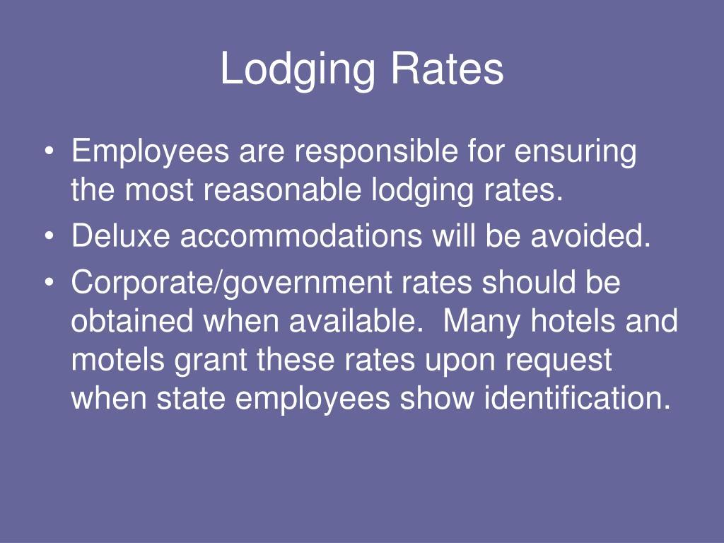 Lodging Rates