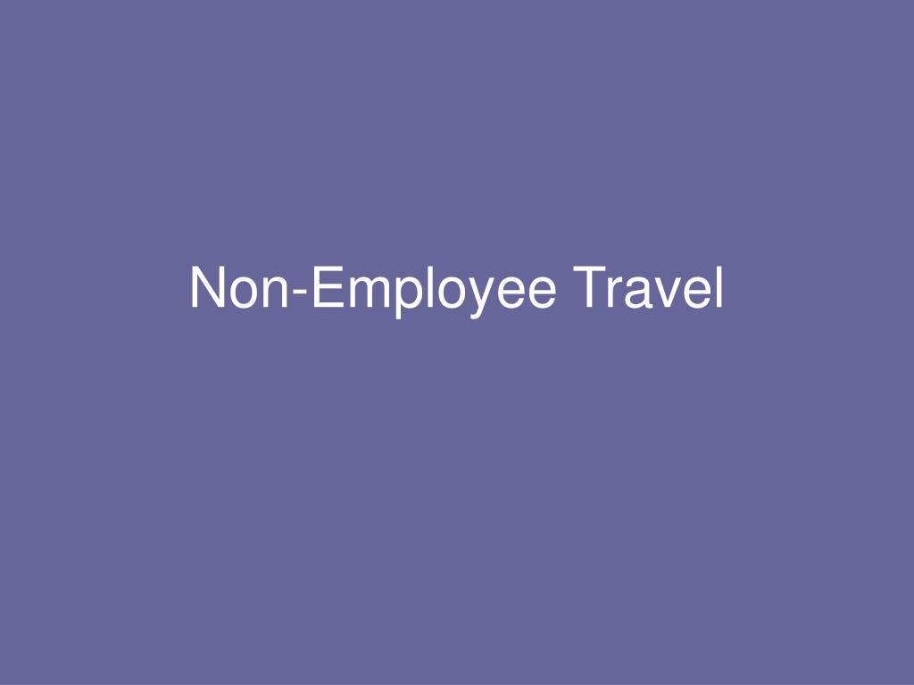Non-Employee Travel