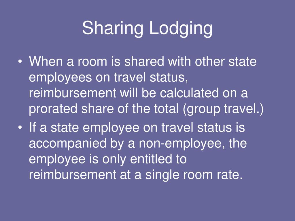 Sharing Lodging