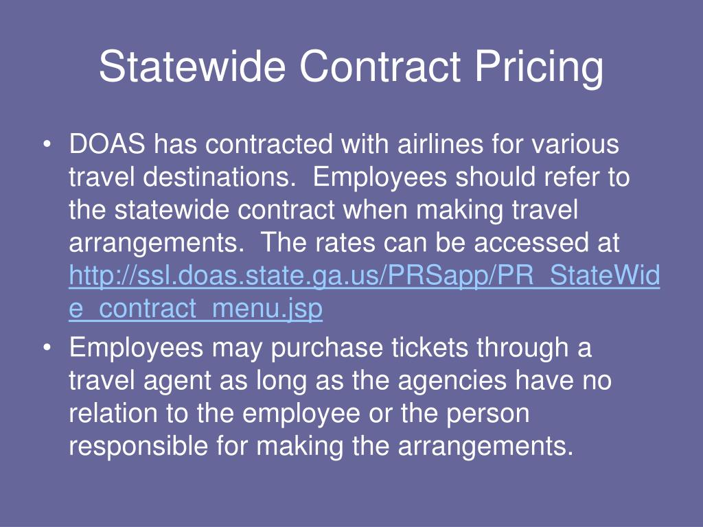 Statewide Contract Pricing