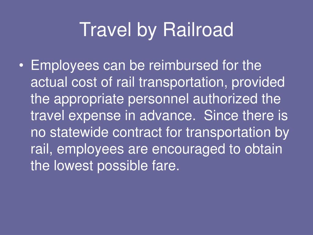 Travel by Railroad