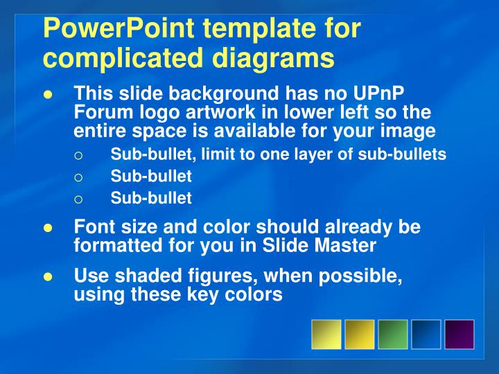 PowerPoint template for complicated diagrams