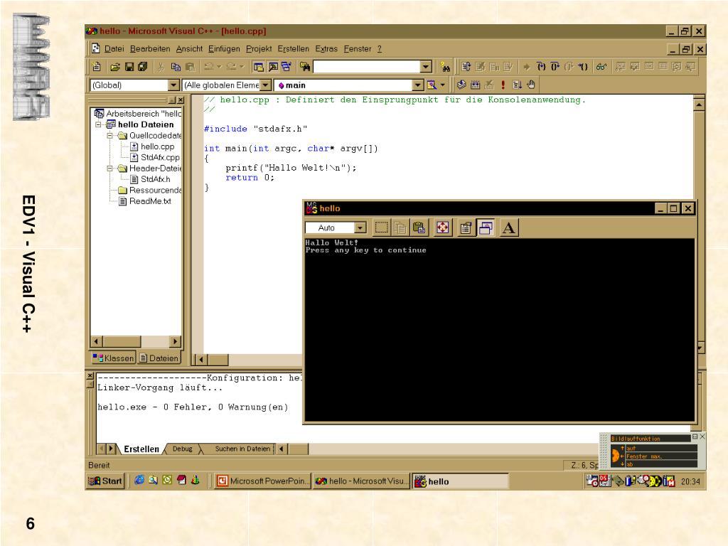 EDV1 - Visual C++