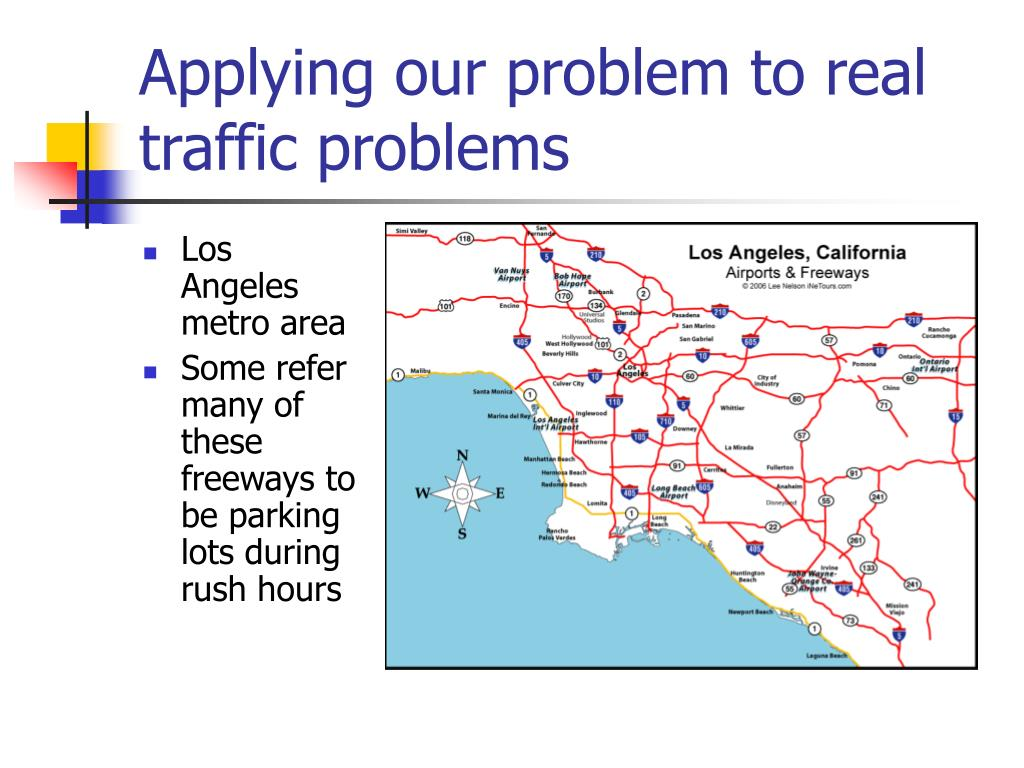 Applying our problem to real traffic problems