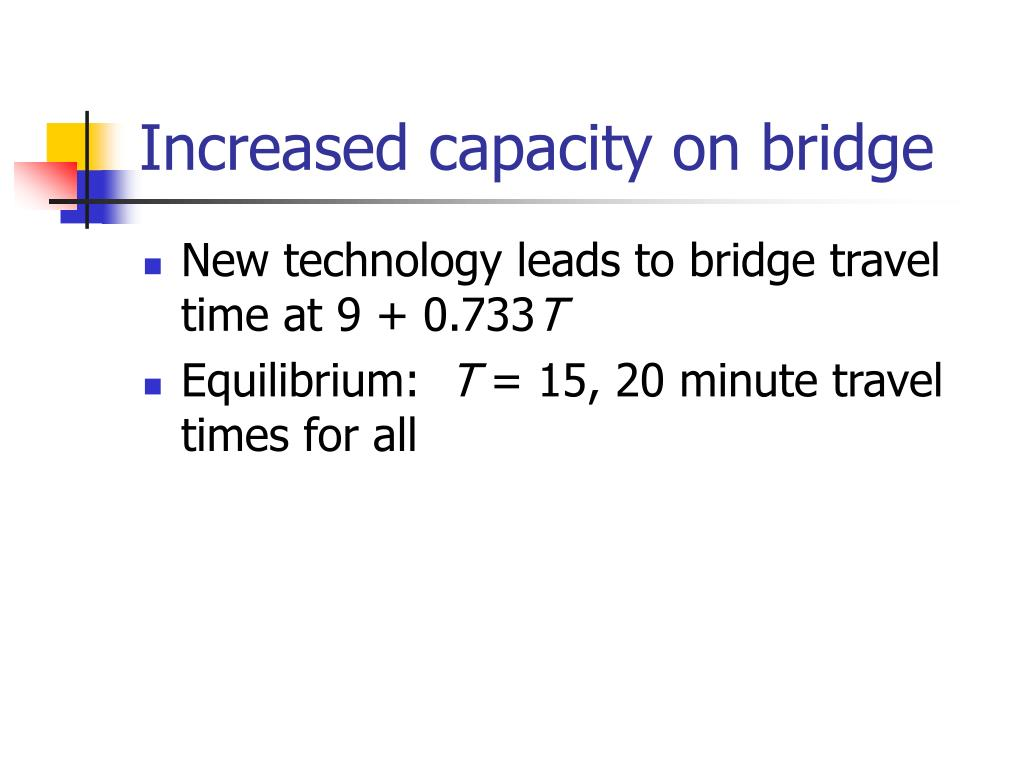 Increased capacity on bridge