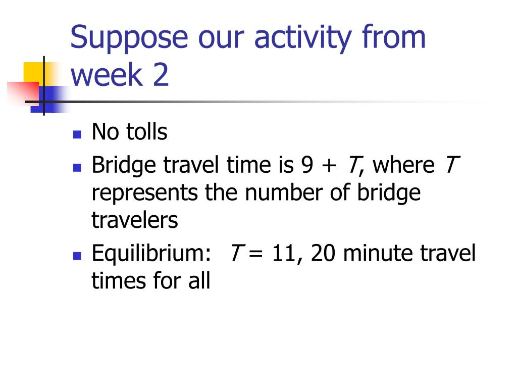 Suppose our activity from week 2