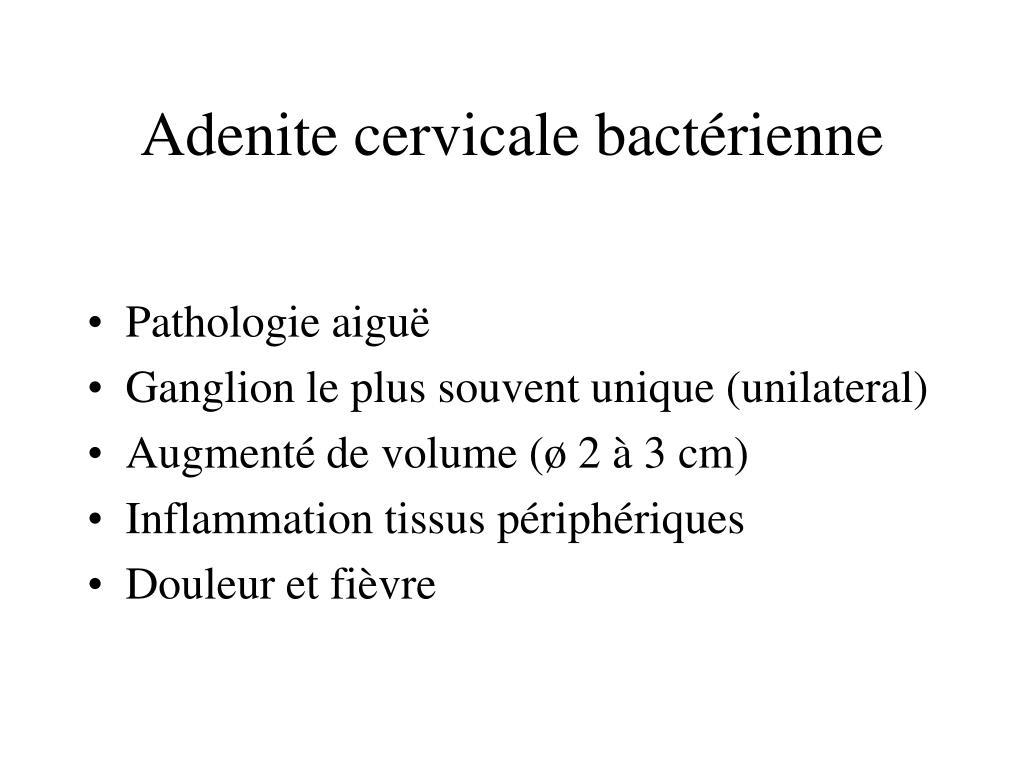 Adenite cervicale bactérienne