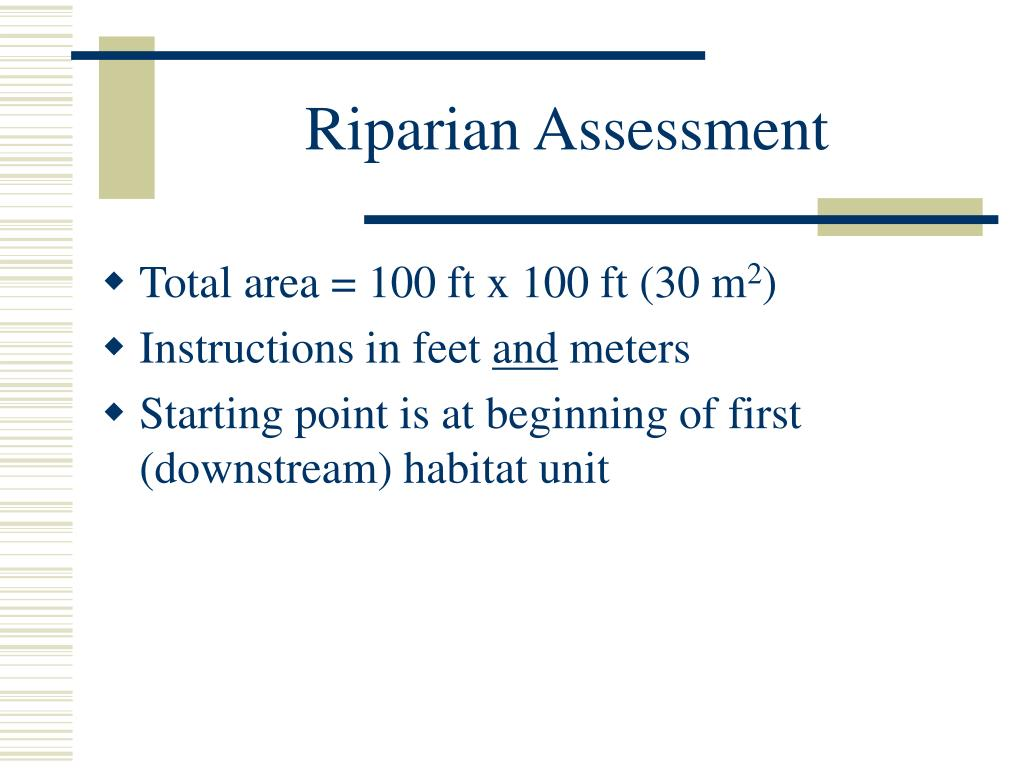 Riparian Assessment