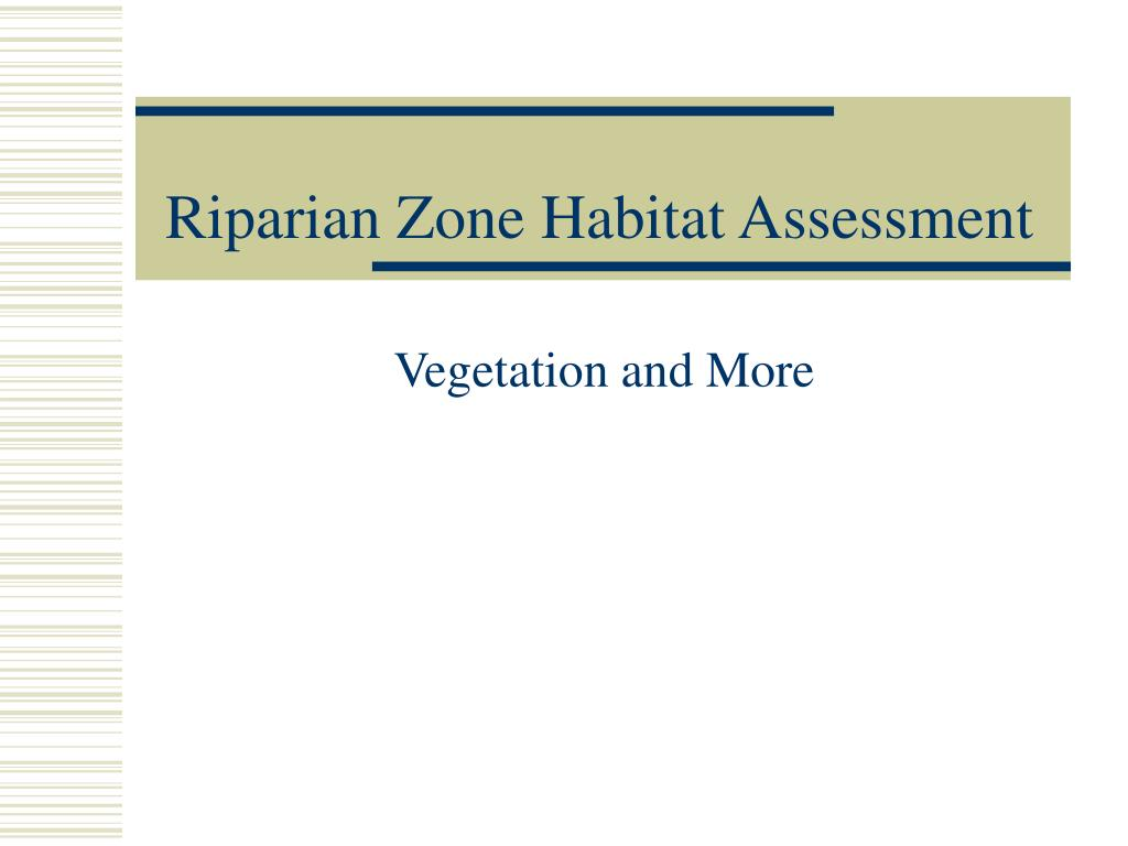 riparian zone habitat assessment