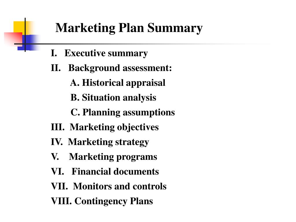 Marketing Plan Summary