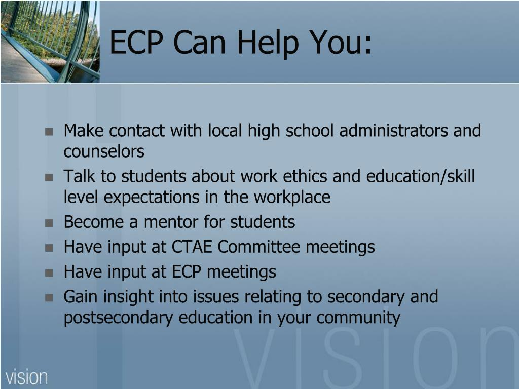 ECP Can Help You: