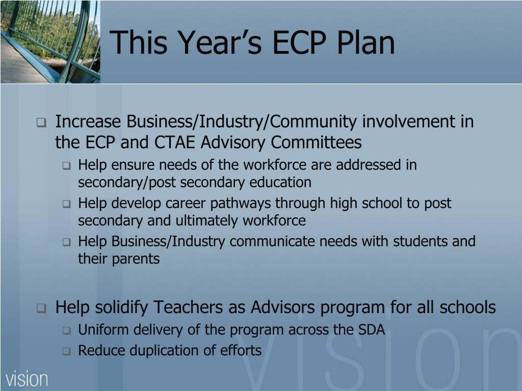 This Year's ECP Plan