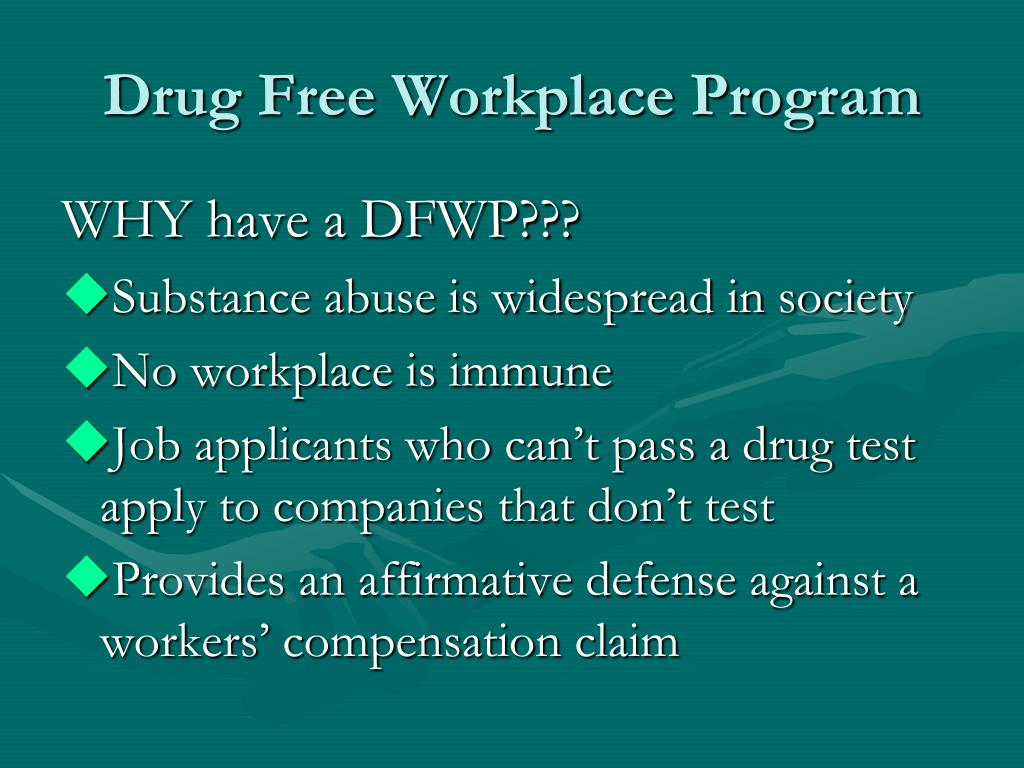 Drug Free Workplace Program