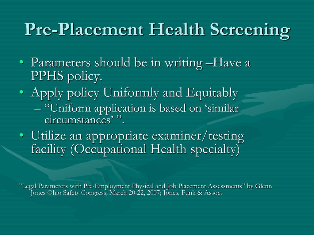 Parameters should be in writing –Have a PPHS policy.
