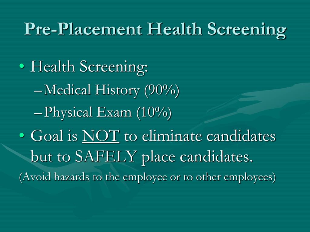 Health Screening: