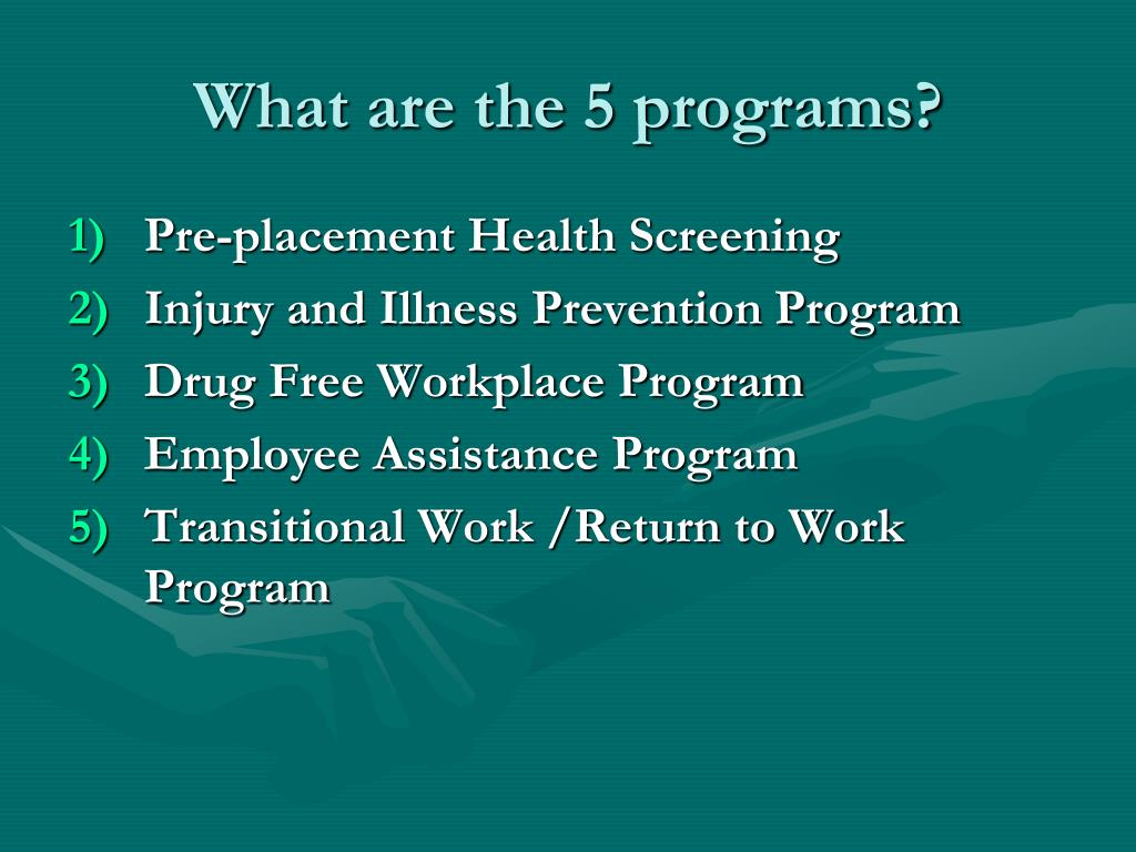 What are the 5 programs?