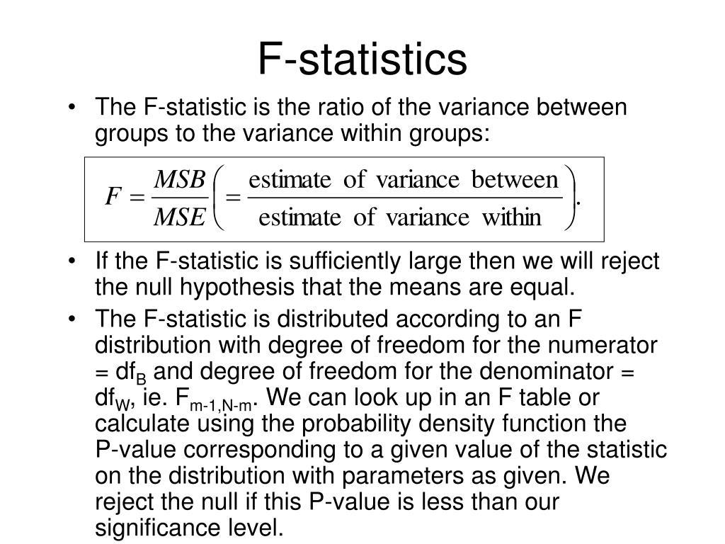F-statistics