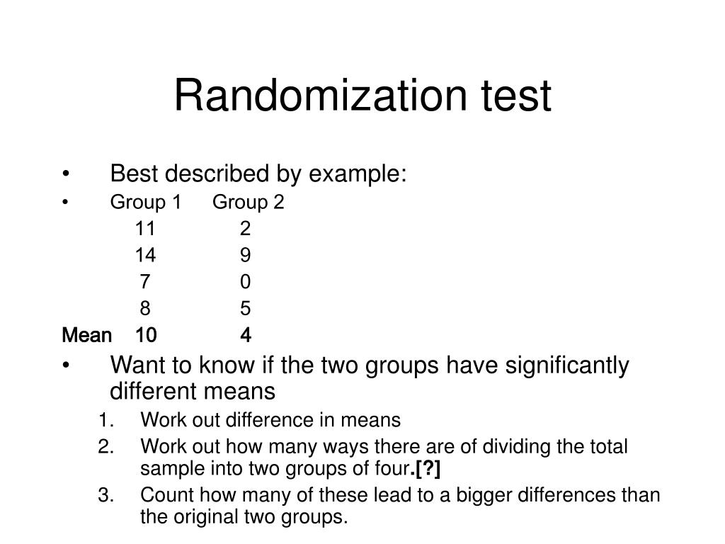 Randomization test
