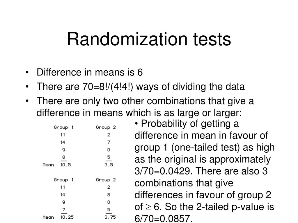Randomization tests