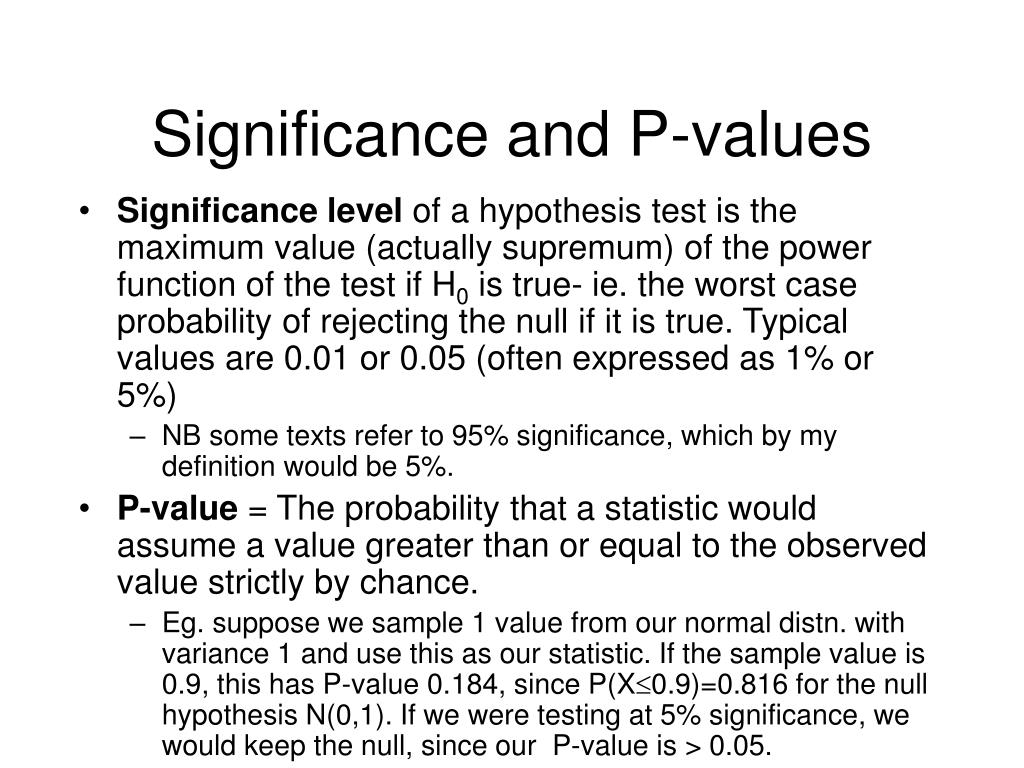 Significance and P-values
