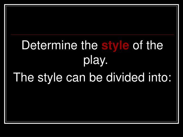Determine the