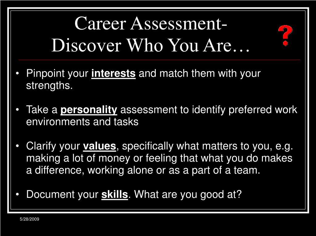 Career Assessment-