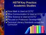 hstw key practice academic studies13
