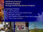 hstw key practice students engaged through partnership service projects