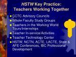 hstw key practice teachers working together