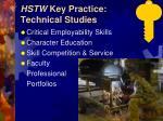 hstw key practice technical studies