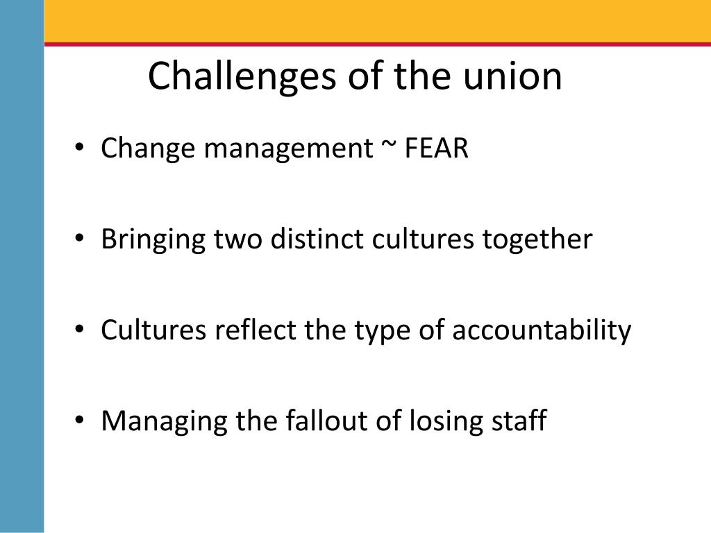 Challenges of the union