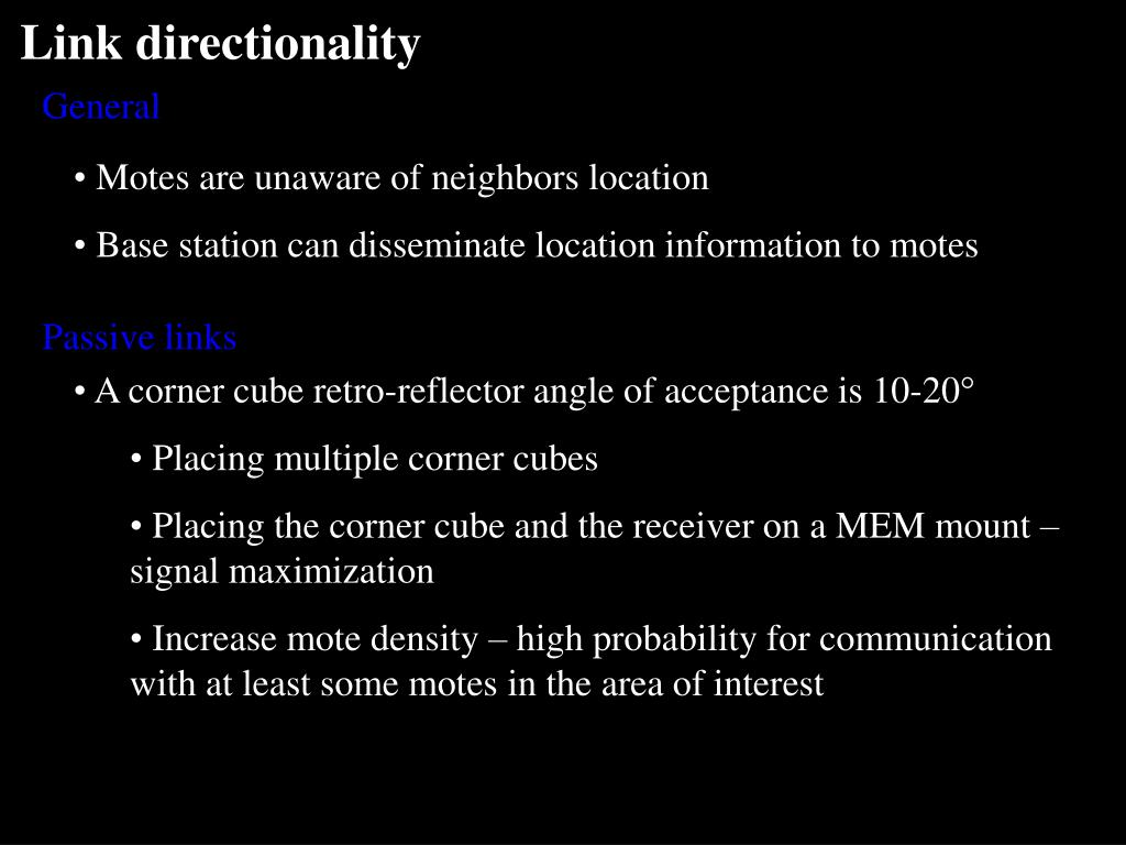 Link directionality