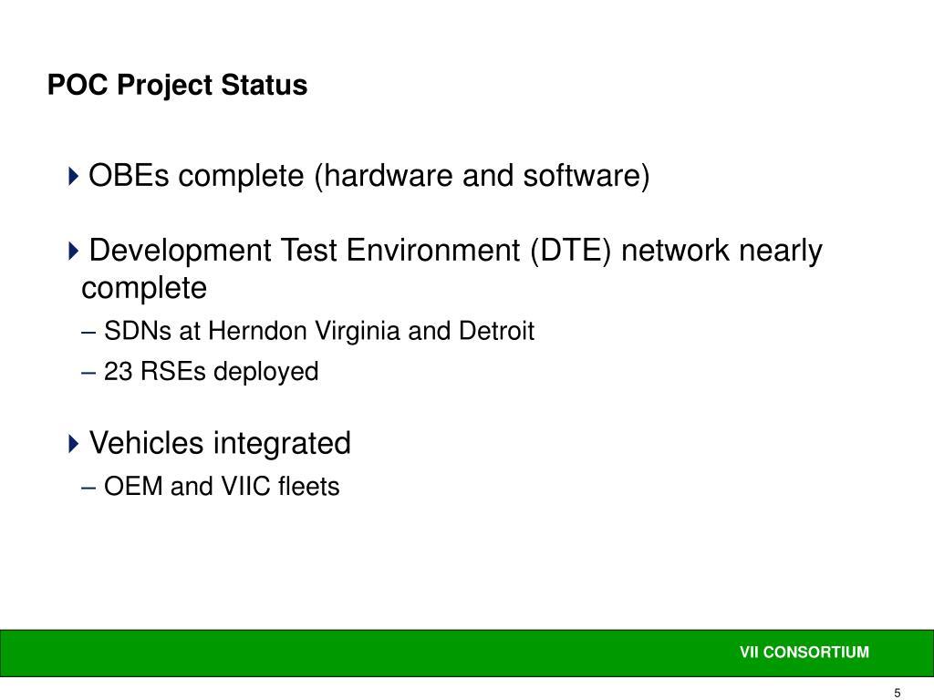 POC Project Status