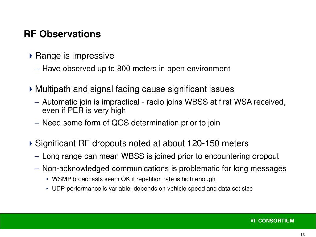 RF Observations