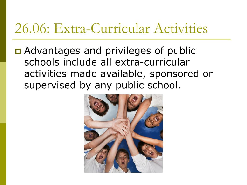 26.06: Extra-Curricular Activities